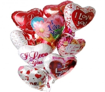 I Love You Balloon Bouquet in Princeton, Plainsboro, & Trenton NJ, Monday Morning Flower and Balloon Co.