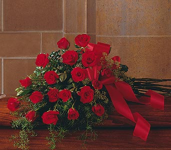 Red Rose Tribute Casket Spray in Norristown PA, Plaza Flowers