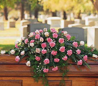 Heavenly Pink Casket Spray in Norristown PA, Plaza Flowers