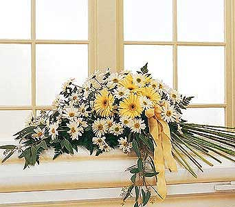 Drop of Sunshine Casket Spray in Norristown PA, Plaza Flowers