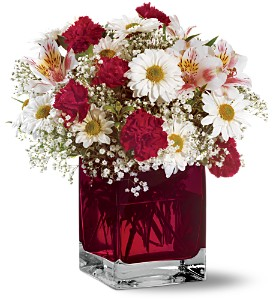 Teleflora's Scarlett Bouquet in Chandler OK, Petal Pushers