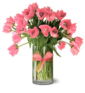 Teleflora's Precious Pink Tulips - Premium in Williamsburg VA, Morrison's Flowers & Gifts