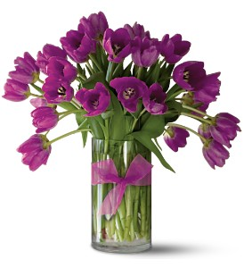 Teleflora's Passionate Purple Tulips - Premium in Bloomington IL, Beck's Family Florist