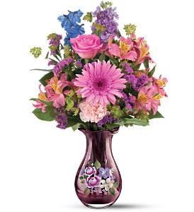 Teleflora's Fenton Art Glass Bouquet in Kingsville ON, New Designs