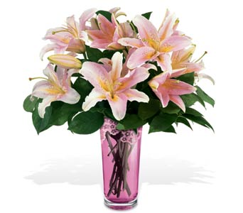 Teleflora's Grand Lily Bouquet by Galway in Rock Island IL, Colman Florist