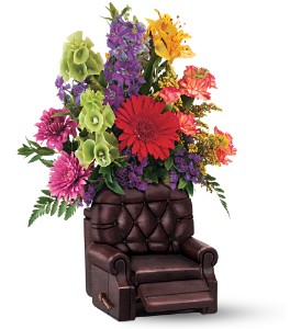 Teleflora's Barcalounger Bouquet in Woodlyn PA, Ridley's Rainbow of Flowers