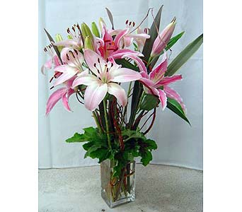 Exotic Lilies Flower Bouquet in Santa Monica CA, Edelweiss Flower Boutique