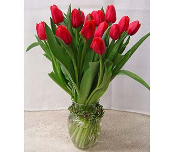 Tulips (Two Lips) For Lovers Flower Bouquet in Santa Monica CA, Edelweiss Flower Boutique