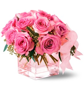Teleflora's Pink on Pink Bouquet in Bakersfield CA, White Oaks Florist