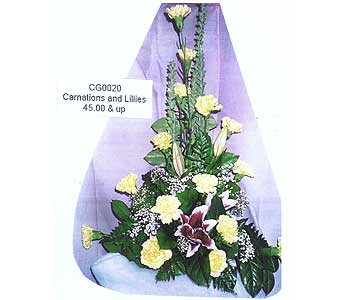 Carnations and Lillies in Sioux Falls SD, Country Garden Flower-N-Gift