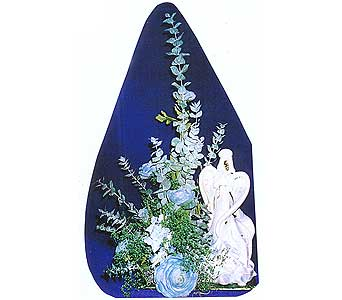 artificial arrangement w/angel in Sioux Falls SD, Country Garden Flower-N-Gift