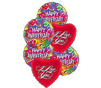 Anniversary Love Balloons in Princeton, Plainsboro, & Trenton NJ, Monday Morning Flower and Balloon Co.