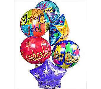 Way to Go Balloon Bouquet in Princeton, Plainsboro, & Trenton NJ, Monday Morning Flower and Balloon Co.