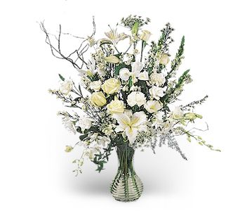 Rhapsody in White in Chapel Hill NC, Floral Expressions and Gifts