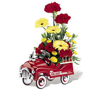 FIRE ENGINE BOUQUET (Gift Bouquet) in Oklahoma City OK, Array of Flowers & Gifts