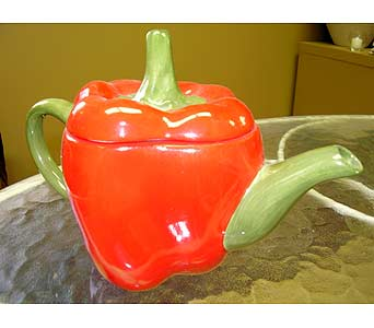 Red Pepper Teapot in Reynoldsburg OH, Hunter's Florist