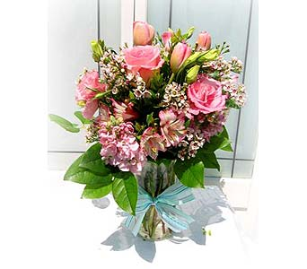 Think Pink Bouquet in Lake Forest CA, Cheers Floral Creations