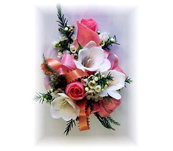 The Alicia Wrist Corsage in Wyoming MI, Wyoming Stuyvesant Floral