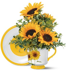 Teleflora's Sunny Sunflower Bouquet in Crown Point IN, Debbie's Designs