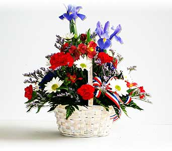 Red, White & Blue 6 inch Basket-Designed Round in Wyoming MI, Wyoming Stuyvesant Floral
