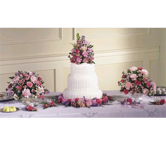 Cake and Table Flower Decorations in San Bernardino CA, Inland Flowers