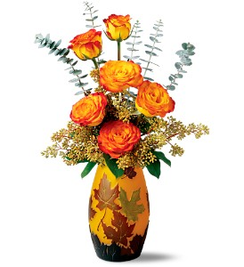 Teleflora's Leaves of Fall Bouquet in Wickliffe OH, Wickliffe Flower Barn LLC.