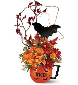 The M&M's� Batmug! Bouquet by Teleflora in Butte MT, Wilhelm Flower Shoppe