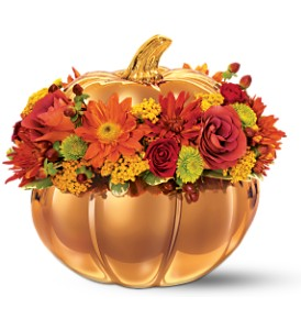 Teleflora's Radiant Autumn Bouquet in Fayetteville AR, The Showcase Florist, Inc.