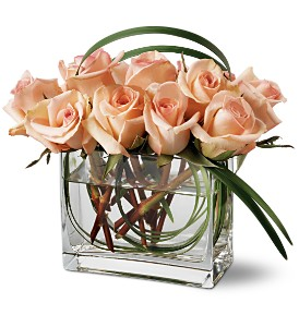 Teleflora's Peaches and Creme Bouquet in San Francisco CA, Abigail's Flowers