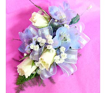 White Rose Blue Ribbon in Massapequa Park NY, Bayview Florist & Montage  1-800-800-7304