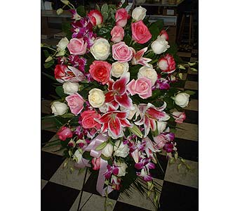 Pinks, Whites & Purples Mix - Standing Easel Spray in Dallas TX, Z's Florist