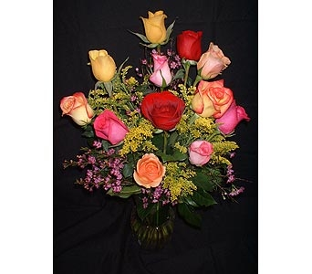 Rainbow Dozen in Dallas TX, Z's Florist
