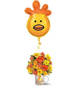 Teleflora's Dr. Chicken Bouquet in New Milford PA, Forever Bouquets By Judy