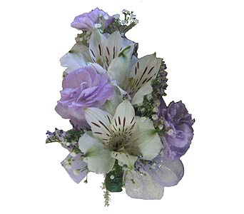 Lavender with Alstroemeria Wrist Corsage in Wyoming MI, Wyoming Stuyvesant Floral
