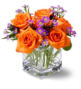 Teleflora's Tangerine Sky in Hartford WI, Design Originals Floral