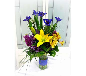 Iris & Lilies Bouquet in Lake Forest CA, Cheers Floral Creations