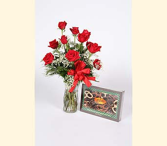 Roses & Chocolate Covered Pretzels in Southampton PA, Domenic Graziano Flowers
