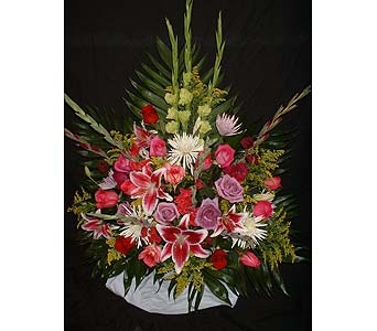 Spring Mix - Funeral Basket Spray in Dallas TX, Z's Florist