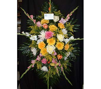 Yellows, Pinks & Whites - Standing Easel Spray in Dallas TX, Z's Florist