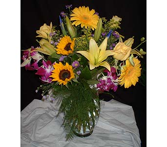 Purple & Gold mix in Dallas TX, Z's Florist