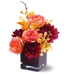 Teleflora's Burgundy Bliss in San Jose CA, Rosies & Posies Downtown