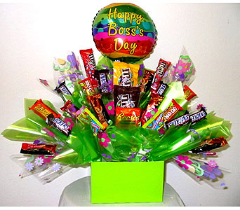 ''Happy Boss's Day'' Candy Bouquet in Oklahoma City OK, Array of Flowers & Gifts