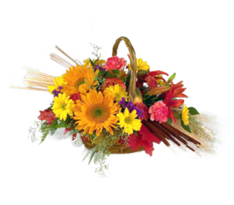 Sunflower Autumn Basket in Indianapolis IN, McNamara Florist