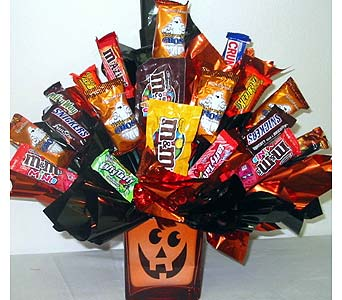 HCB77 ''Sweet Tooth'' Halloween Candy Bouquet in Oklahoma City OK, Array of Flowers & Gifts