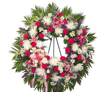 Deluxe Eternity Wreath in Bayside NY, Bell Bay Florist