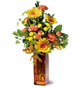 Teleflora's Autumn Fireworks in West Los Angeles CA, Sharon Flower Design