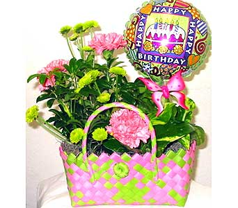 GP32A ''Planted with Love'' Birthday Planter in Oklahoma City OK, Array of Flowers & Gifts