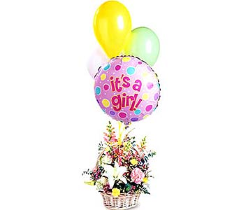 FF63G ''Blooms & Balloons for Her'' in Oklahoma City OK, Array of Flowers & Gifts