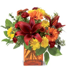 Teleflora's Autumn Awe in Tustin CA, Saddleback Flower Shop