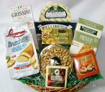 Cheese and Cracker Basket in Brooklyn NY, David Shannon Florist & Nursery